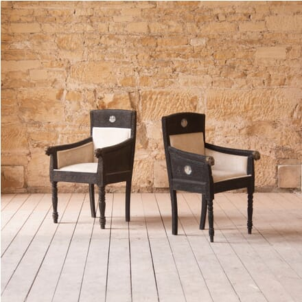 Pair of Maharaja Wooden His and Hers Chairs DA539614