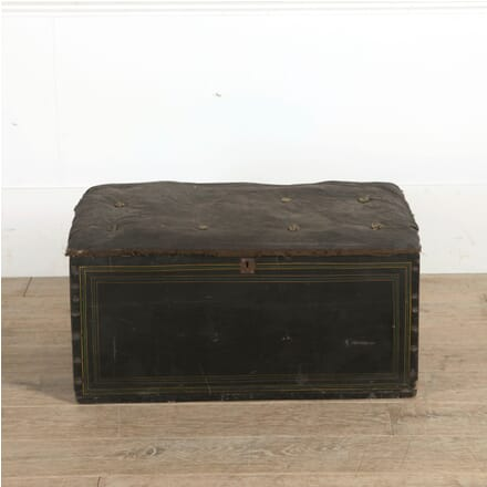 19th Century Original Painted Upholstered Carriage Blanket Box OF0959783
