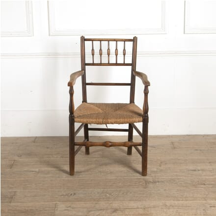 19th Century English Provincial Oak Elbow Chair CH9910532
