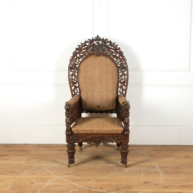 19th Century Anglo-Indian Armchair CH0311389
