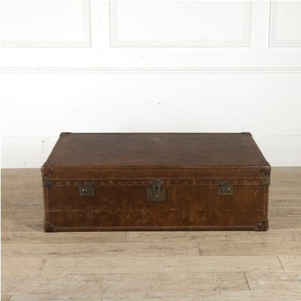 Large Early 20th Century Leather Travelling Trunk CB1310787