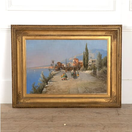 Late 19th Century Italian Oil Painting of the Amalfi Coast WD889972