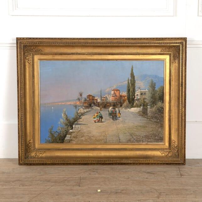 Late 19th Century Italian Oil Painting of the Amalfi Coast WD889972