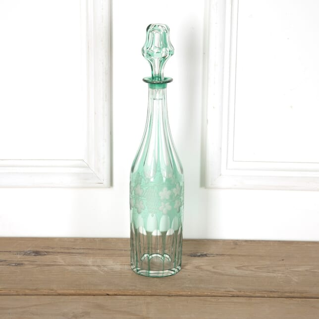 Green 19th Century Overlay Glass Decanter DA5858843
