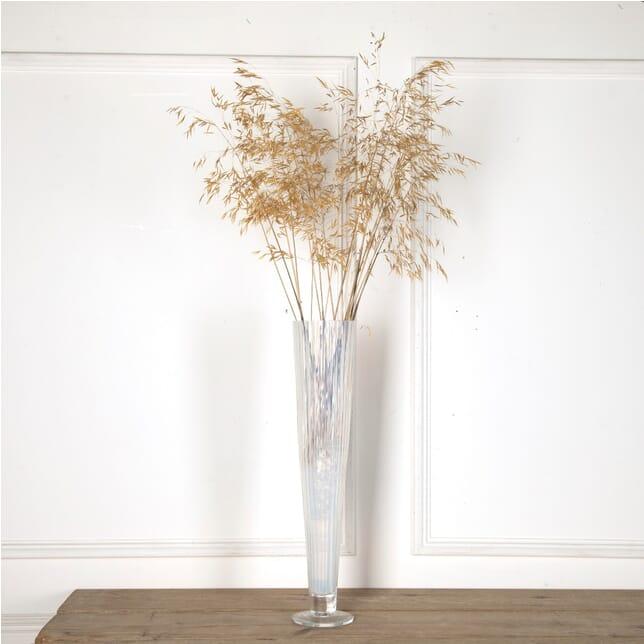 Giant Art Deco Opalescent Ribbed Glass Vase DA5862042