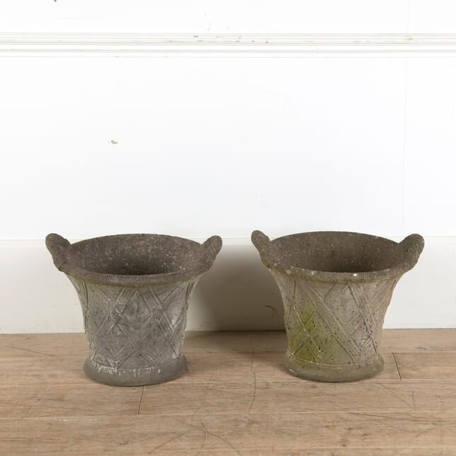 Pair of Stone Flower Pots GA2510697