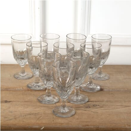 10 Handblown French Bistro Glasses DA7111207