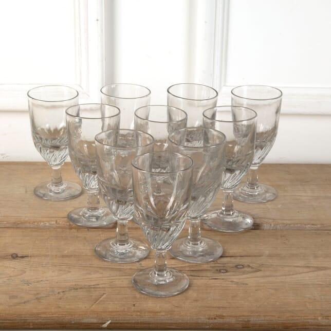 10 Handblown French Bistro Glasses DA7111207
