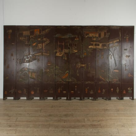 19th Century Lacquered Chinoiserie Screen WD5217530