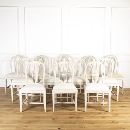Set of 12 Gustavian Dining Chairs CD9014865