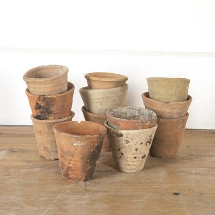 Twelve 19th Century Spanish Plant Pots DA7914004