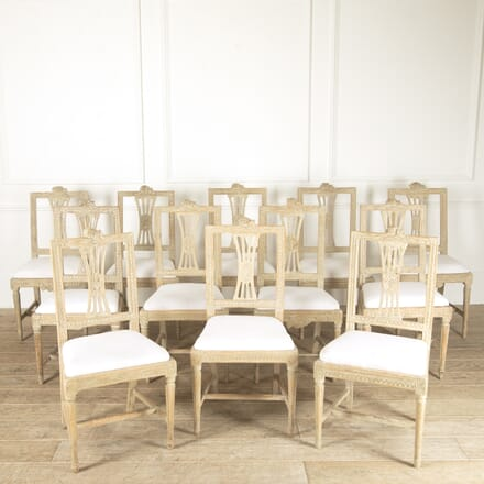 12 Swedish Dining Chairs from Lindome CD9214141