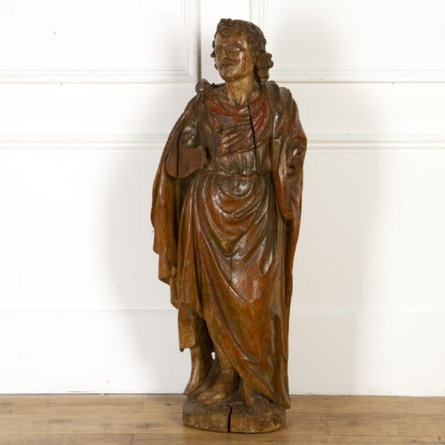 17th Century Carved Figure of a Saint DA4317706