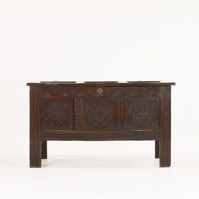 17th Century English Carved Oak Coffer CB0610183