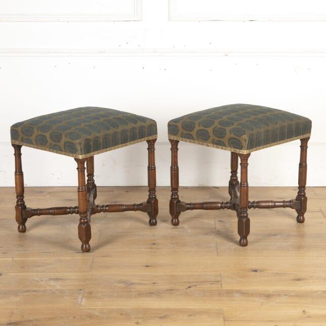 Pair of 17th Century Walnut Stools ST0315838