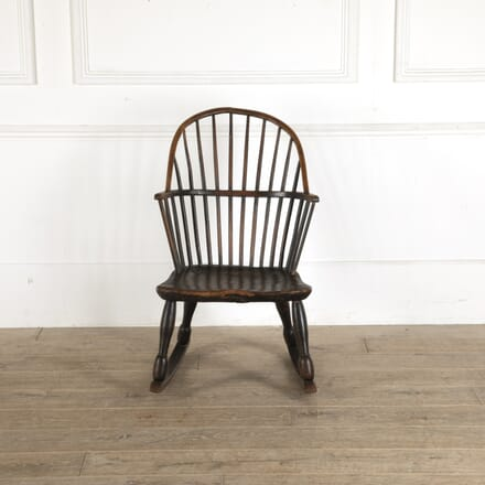 18th Century Oak and Ash Windsor Rocking Chair CH7712347