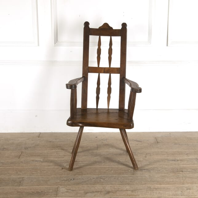 18th Century Spanish Oak and Elm Chair CH7712339