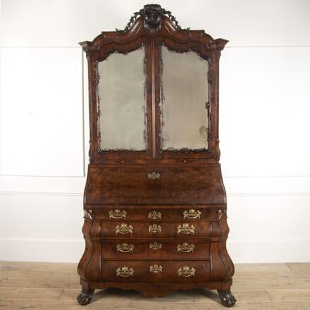 18th Century Burr Walnut Bureau Bookcase DB3915777