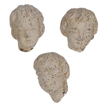 18th Century Carved Cherub Heads DA026372