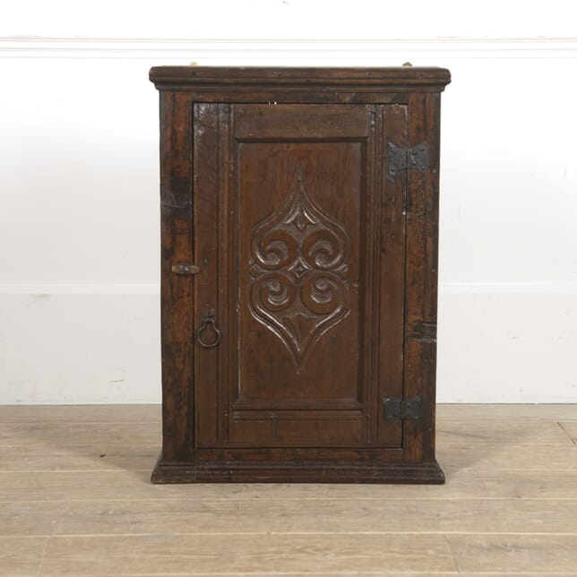 18th Century Carved Oak Wall Cabinet BK7715659