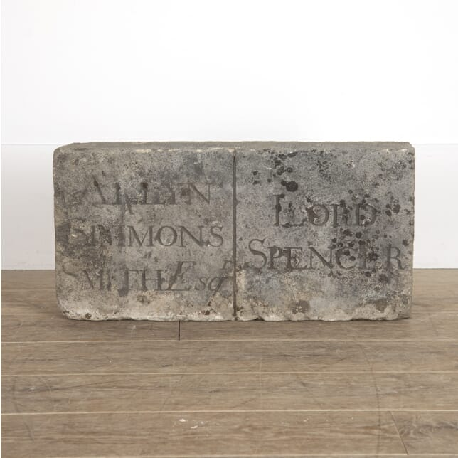18th Century Carved Stone Tablet GA0914399