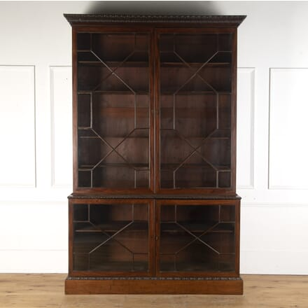 18th Century Chippendale Period Mahogany Bookcase BK105377