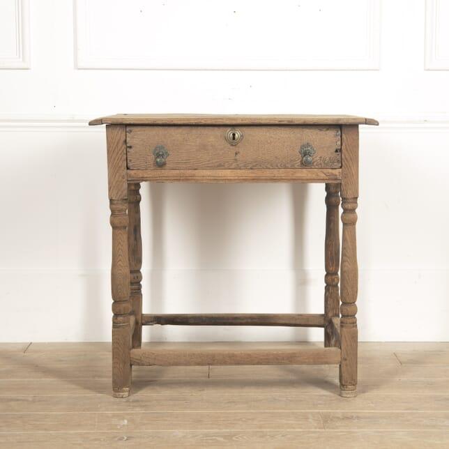English 18th Century Oak Side Table CO2816160
