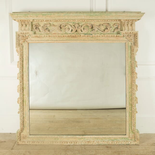 18th Century English Overmantle Mirror MI019373