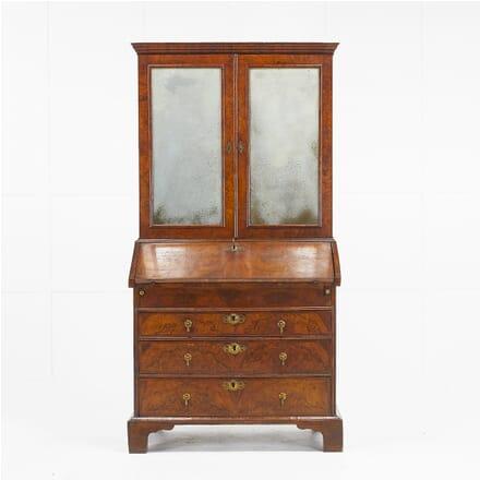 18th Century English Walnut Bureau Cabinet BU069469