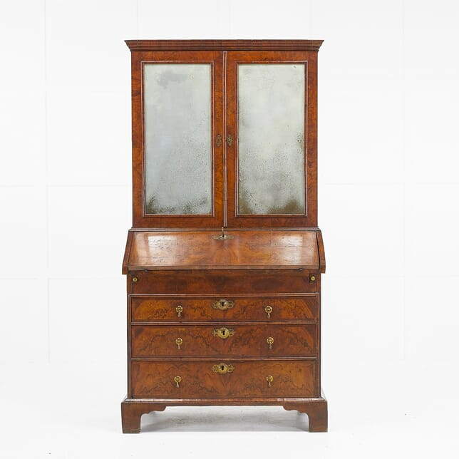 18th Century English Walnut Bureau Cabinet BU069469