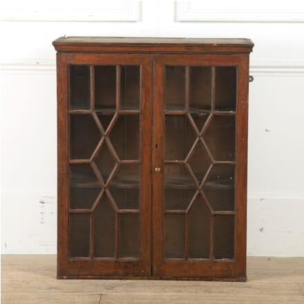 18th Century Glazed Irish Hanging Wall Cupboard BU9910535