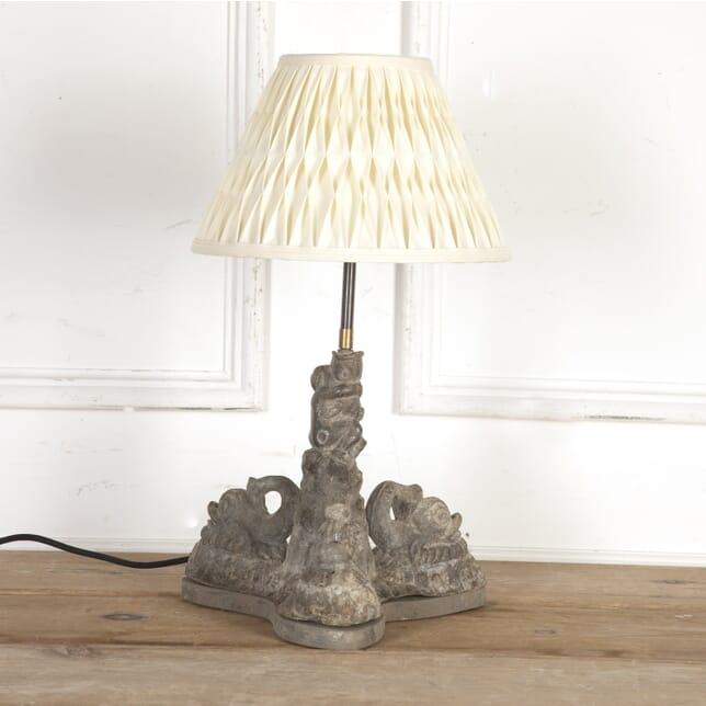 18th Century Lead Dolphins Table Lamp LT7316276