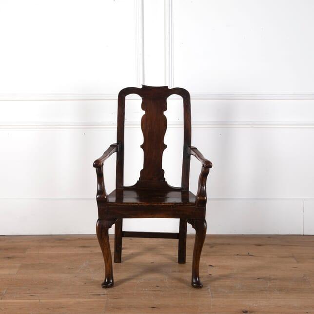 18th Century Rustic Walnut Armchair CH6810752