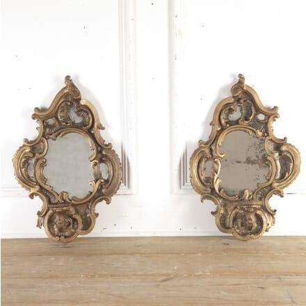 Pair of 18th Century Venetian Mirrored Wall Sconces MI8715820