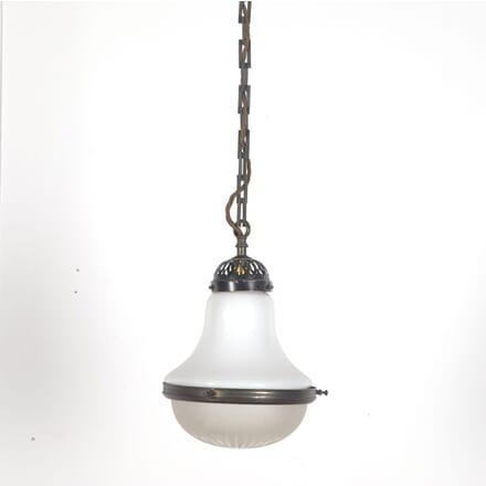 1920s Opaline Hanging Light LC3610261