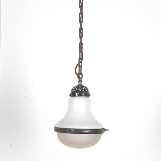 1920s Opaline Hanging Light LC3610261