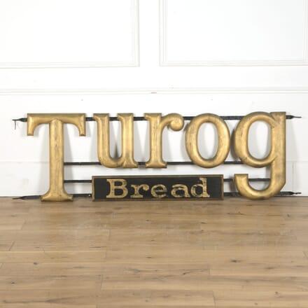 Original 1920s Turog Advertising Bread Sign DA5310437