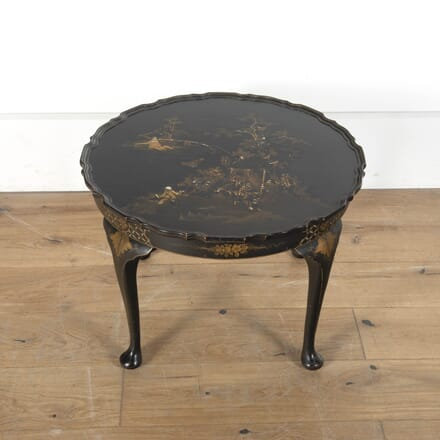 1930s Oval Ebonised Chinoiserie Side Table DA5912830