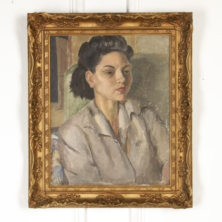 1930s Oil on Board 'Portrait of a Lady' WD5917736