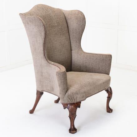 English Walnut Wingback Armchair CH0616382