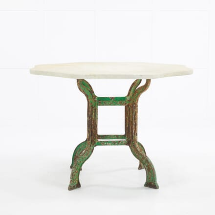 1940s French Marble Top Table on Iron Base TC069899