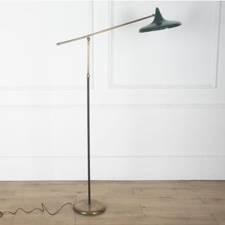 1950s Italian Floor Lamp with Green Shade LF5712555