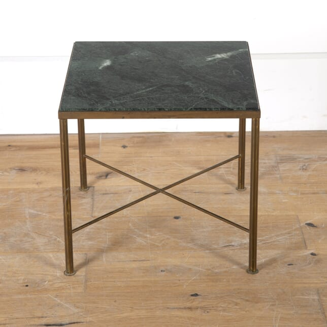 Mid Century Brass Occasional Table with Marble Top TC5715004