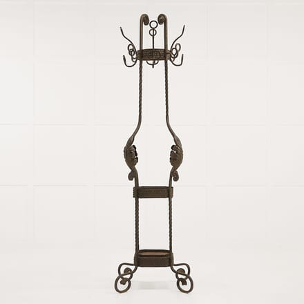 1950s French Wrought Iron Umbrella and Hat Stand DA068920
