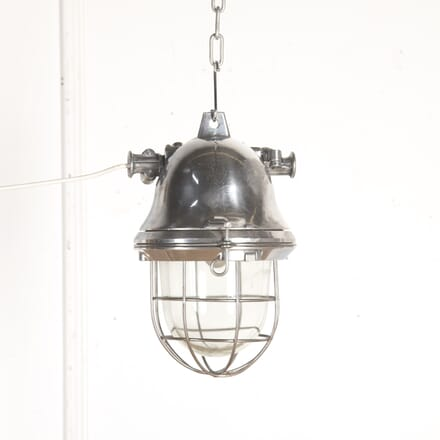 1950s German Holophane Cage Light LL5315027