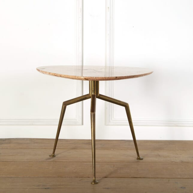 1950s Italian Marble and Brass Occasional Table TC579042