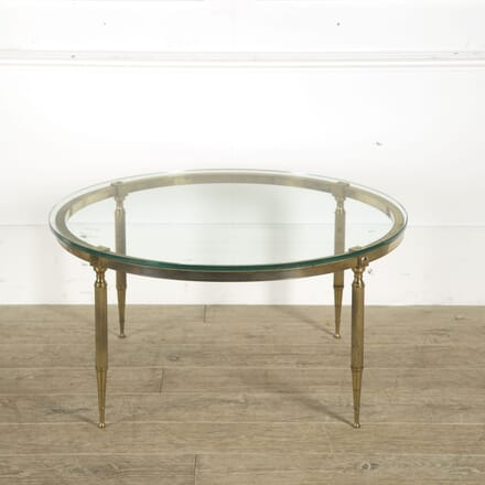 1960s Brass and Glass Coffee Table CT0510199