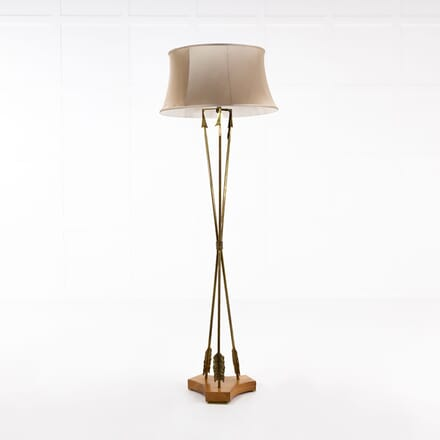1960s French Brass Floor Lamp LF068936