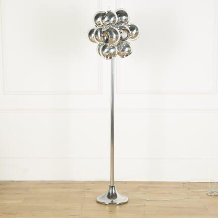 1960s Italian Chrome Ball Floor Light LF539609