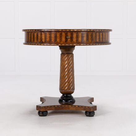 1960s Italian Walnut Occasional Table TC069916